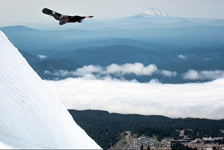 Toby Miller snowboarding